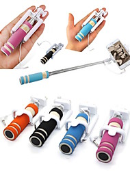 cheap -Mini Fashion Adjustable Handheld Selfie Stick Wire Control Portable Extendable Mobile Phone Selfie Sticks