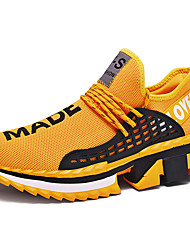 cheap -Men's Comfort Shoes Tissage Volant Spring / Fall Athletic Shoes Running Shoes Breathable Black / White / Yellow