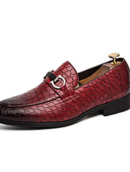 cheap -Men's Formal Shoes PU Spring / Fall Casual / British Loafers & Slip-Ons Non-slipping Black / Brown / Burgundy
