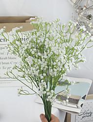 Недорогие -Yiwu pho_09jb3pcs Гипсофила искусственные цветы свадебные поддельные цветы с цветами в руках Гипсофила цветочная композиция украшение дома белый белый