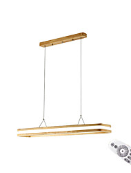cheap -1-Light LED Pendant Light Wooden Led Chandeliers Hanging Light Ceiling Mounted Minimalist Overhead Lights For Bedroom