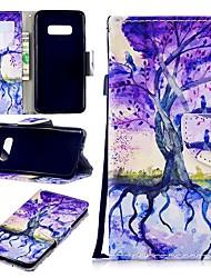Недорогие -Кейс для Назначение SSamsung Galaxy S9 / S9 Plus / S8 Plus Кошелек / Бумажник для карт / Защита от удара Чехол дерево Твердый Кожа PU