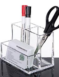 cheap -Plastics Creative Home Organization, 1 PC Acrylic Pen Holders & Cases