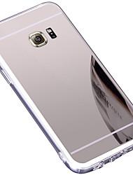 Недорогие -Кейс для Назначение SSamsung Galaxy S7 edge Зеркальная поверхность Кейс на заднюю панель Однотонный Твердый ТПУ