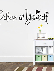 cheap -Removable Vinyl Decal Believe In Yourself Home Decor Inspiring Quote Wall Sticker