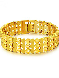 cheap -Men's Chain Bracelet Classic Faith Fashion Gold Plated Bracelet Jewelry Gold For Party Daily