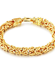 cheap -Men's Chain Bracelet Hollow Out Happy Fashion Gold Plated Bracelet Jewelry Gold For Gift Daily