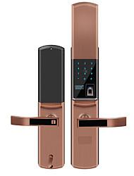 cheap -Slide fingerprint lock home security door intelligent electronic password lock anti-interference pulse unlock waterproof