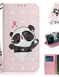 cheap -Case For Motorola G7 / G7 Plus / G7 Play Wallet / Card Holder / Shockproof Full Body Cases Panda PU Leather for  Moto G7 Power/MOTO G5S Plus/MOTO One / MOTO  P30 Play