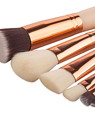 abordables -Professionnel Pinceaux à maquillage ensembles de brosses 8pcs Doux Couvrant Poil Synthétique Bois Pinceaux de Maquillage pour Set de Pinceaux de Maquillage