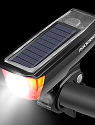 Недорогие -Светодиодная лампа Велосипедные фары Передняя фара для велосипеда Велосипедный рог Велоспорт Велоспорт Несколько режимов Супер яркий Безопасность Большой угол Солнечная энергия 350 lm