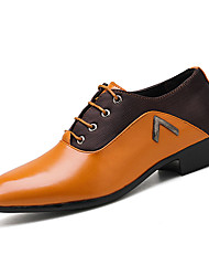 cheap -Men's Formal Shoes PU Spring & Summer / Fall & Winter Casual / British Oxfords Black / Yellow / Party & Evening