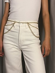 cheap -Women's Body Jewelry 100.5 cm Waist Chain Gold / Silver Aluminum Costume Jewelry For Party / Gift / Daily Summer