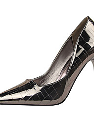 cheap -Women's Heels Stiletto Heel Pointed Toe Sexy Party & Evening Solid Colored Patent Leather White / Black / Red