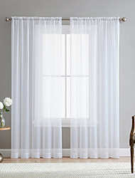 cheap -Modern rod Style  White Sheer Curtains Living Room Storage