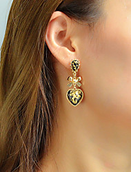 cheap -Women's Drop Earrings Geometrical Heart Bowknot Unique Design Trendy Elegant Earrings Jewelry Gold For Gift Daily Work 1 Pair