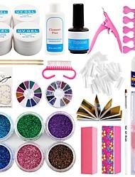 cheap -Manicure Set Of Tools Nail Set Kit UV Led Lamp UV Gel Nail Tip Nail Tools Art Tools Nail Set Kit Building Gel Set
