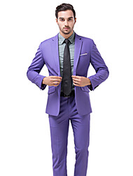 cheap -Tuxedos Standard Fit Notch Single Breasted One-button Polyester Solid Colored