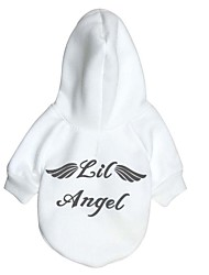 cheap -Dog Sweater Hoodie Sweatshirt Quotes & Sayings Angel Simple Style Casual / Sporty Dog Clothes Puppy Clothes Dog Outfits White Red Costume for Girl and Boy Dog Fabric Fleece XS S M L