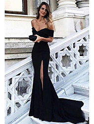 cheap -Mermaid / Trumpet Off Shoulder Sweep / Brush Train Satin Elegant Formal Evening Dress with 2020