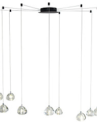 cheap -9-Light Modern Chandelier 9 Lights Hanging Lamp Dropping Pendant Ceiling Fixture Crystal G4 Led Bulbs Included for Dinning Living Office Cafe Room