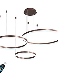 cheap -LED 60W Circle Chandelier/ LED Modern Pendant Lights For Living Room Coffee Bar Shop Room/ Small Size/ Warm White / White / Dimmable With Remote Control / WIFI Smart via Voice Control