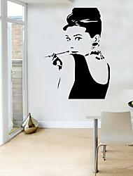 Недорогие -Декоративные наклейки на стены - Люди стены стикеры Пейзаж / Геометрия Гостиная / Спальня / Кухня
