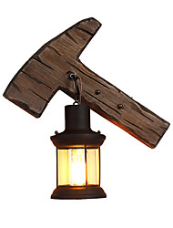 Недорогие -настенные светильники в стиле ретро в стиле рустик, настенные светильники скрытого монтажа в домиках магазины / кафе / рабочий кабинет / офисные деревянные настенные светильники для подвального