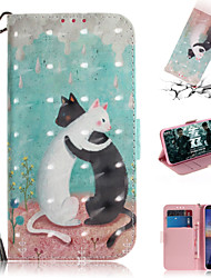 cheap -Case For Nokia Nokia Wallet / Card Holder / with Stand Full Body Cases Animal / 3D Cartoon PU Leather