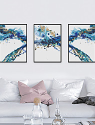 cheap -Framed Art Print Framed Set - Abstract PS Oil Painting Wall Art