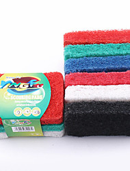 cheap -Kitchen Cleaning Supplies polyester fibre Cleaning Brush & Cloth New Design 2pcs