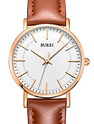 cheap -Women's Dress Watch Quartz Leather 30 m Water Resistant / Waterproof Calendar / date / day Analog Casual Fashion - White One Year Battery Life / Stainless Steel