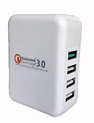 Недорогие -4 USB зарядное устройство для мобильных телефонов Быстрая зарядка головки ЕС / США Plug PJ0710-1132