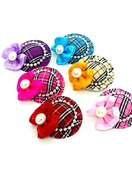 cheap -Dogs Ornaments Hair Accessories For Dog / Cat Bowknot Decoration Stripes Mosaic Bowknot Metalic Polyester Rubber Rainbow