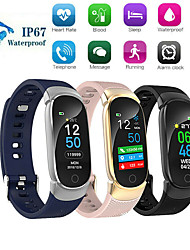 cheap -QS01 Smart Bracelet Bluetooth Color Screen Heart Rate Monitor Blood Pressure Measurement Fitness Tracker Waterproof Smart Watch