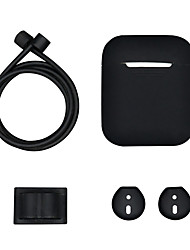 cheap -Airpods Strap / Protective Cover Case / Headphone Carry Bag Simple Style Apple Airpods Shockproof Scratch-proof Silicon Rubber