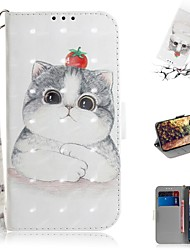 cheap -Case For Nokia Nokia 9 PureView Wallet / Card Holder / Shockproof Full Body Cases Cat PU Leather