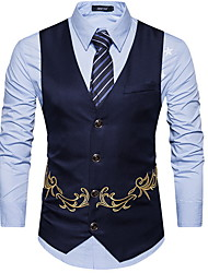 cheap -Polyester Wedding Party Vests Embellished&Embroidered