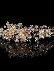 cheap -Alloy Headbands / Headdress / Headpiece with Sparkling Glitter / Pearls / Glitter 1 Piece Wedding / Party / Evening Headpiece