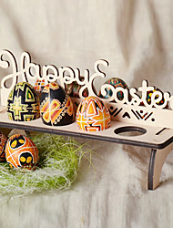 cheap -DIY Wooden Happy Easter Egg Holder Decoration