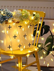cheap -6m Snow Flakes String Lights 40 LEDs Warm White Christmas Wedding Party Decorative AA Batteries Powered 1set