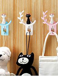 cheap -Plastic Rectangle Cute Home Organization, 1pc Hooks