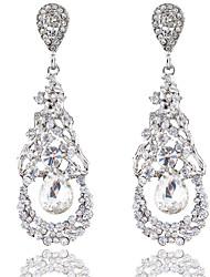 cheap -Women's White Drop Earrings Dangle Earrings Chandelier Drop Statement Dangling Romantic Oversized Earrings Jewelry Silver For Wedding Party Carnival Festival 1 Pair