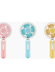cheap -1Pc Portable Handheld Outdoor Simple Fan Mini Shower Fan With Night Light Creative Usb Charging Three-Stage Desktop Office Small Fan