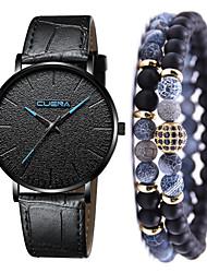 cheap -Men's Dress Watch Quartz Leather Black / Brown No Chronograph Cute New Design Analog New Arrival Minimalist - Black / Blue Rose Gold Black / Rose Gold One Year Battery Life
