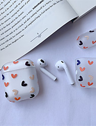 cheap -AirPods Case Silicone Solid Color  Lovely  Pattern  Shockproof Protective  Cover Portable For AirPods1 & AirPods2 (AirPods Charging Case Not Included)