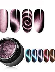 cheap -5ml Magnetic 5D Cat Eye UV Gel Nail Polish Magnet Laser Nail Art Varnish Starry Sky Jade Effect Soak Off UV Gel Nail Art Lacquer