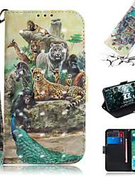 cheap -Case For Xiaomi Xiaomi Pocophone F1 / Xiaomi Redmi 6 Pro / Xiaomi Redmi 7 Wallet / Card Holder / with Stand Full Body Cases Animal / 3D Cartoon PU Leather
