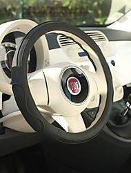 Недорогие -LITBest Чехлы на руль Кожа / Ластик 38 см / 36 см Черный Назначение Универсальный / Volkswagen / Toyota Все года / Универсальный