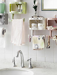 cheap -Fashion Holder Roll Paper Tissue Box Sucker Toilet Paper Bathroom Wall Mounted Color Random